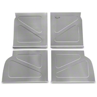 Scott Rod Fabrication Aluminum Rear Seat Delete Kit w/o Stock Filler Panel installed (94-04 All) - AM Interior NRSD-NP