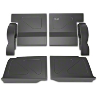 Scott Rod Fabrication Aluminum Rear Seat Delete Kit - Black - Coupe (79-93 All) - AM Interior FRSD-C CA