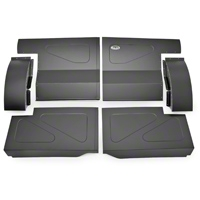 Scott Rod Fabrication Aluminum Rear Seat Delete Kit w/ Interior Trim Panels - Black - Coupe (87-93 All) - AM Interior FRSD-QT CA