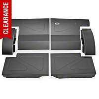 Scott Rod Fabrication Aluminum Rear Seat Delete Kit - Black - Coupe (87-93 All) - AM Interior FRSD-QT CA