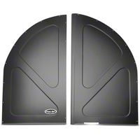 Scott Rod Fabrication Aluminum Spare Tire Cover Panel - Black - Coupe (79-93 All) - AM Interior FSTC-C CA