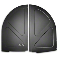 Scott Rod Fabrication Aluminum Spare Tire Cover Panel - Black - Hatchback (79-93 All) - AM Interior FSTC-H CA
