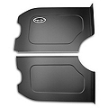 Scott Rod Fabrication Aluminum Trunk Side Panel Covers - Black - Coupe (79-93 All) - AM Interior FTSB-C CA