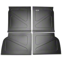 Scott Rod Fabrication Aluminum Rear Seat Delete Kit w/o Stock Filler Panel installed - Black (94-04 All) - AM Interior NRSD-NP CA