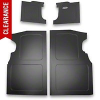 Scott Rod Fabrication Aluminum Trunk Floor And Side Panel Cover Kit - Black (94-04 All) - AM Interior NTFSB-15 CA