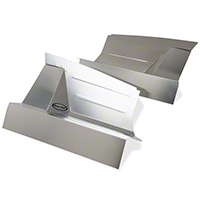 Scott Rod Fabrication Aluminum Inner Skirt Covers (87-93 All) - Scott Rod Fabrication FIC-712