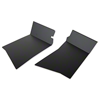 Scott Rod Aluminum Rear Inner Skirt Covers - Black (87-93 All) - Scott Rod FIR-82CA