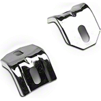 Polished Stainless Steel Lower Radiator Brackets (83-93 5.0L) - AM Exterior E3ZZ-8B455-S