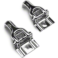 Polished Stainless Steel Upper Radiator Brackets (87-93 5.0L)