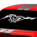 Running Pony Window Decal - White (79-93 All)