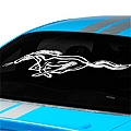 Running Pony Window Decal - White (94-04 All)
