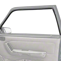 Door Window Run Channel - Passenger Side - Coupe, Hatchback (79-93 All) - AM Restoration E9ZZ-6121596