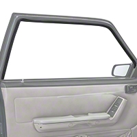 Door Window Run Channel - Driver Side - Coupe, Hatchback (79-93 All) - AM Restoration E9ZZ-6121597