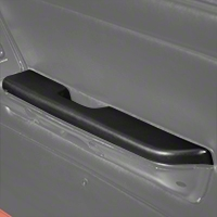 Black Door Arm Rest Pad - Right Power Window (87-93 All) - AM Restoration E7ZZ-6124142-BL