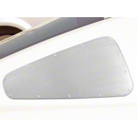 Mustang Brushed Aluminum Exterior Quarter Window Covers (05-09)