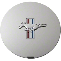 Ford Pony Wheel Center Cap - Argent Silver w/ Tri-Bar Pony (90-93) - Ford F1ZZ-1130-A