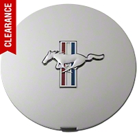 Pony Wheel Center Cap - Argent Silver w/ Tri-Bar Pony (90-93) - Ford F1ZZ-1130-A