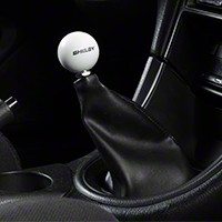 Shelby Classic White 6-Speed Shift Knob (83-04 All) - Shelby 7S3Z-7213-W6-75