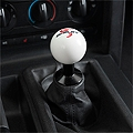 Shelby Cobra Classic White Shift Knob (05-13 All) - Shelby 5S3Z-7213-WS-25