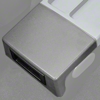 Center Console Arm Rest Delete Plate - Gray (87-93 All) - AM Restoration E7ZZ-6104574-GY