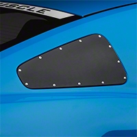 Scott Drake Window Covers w/Rivets - Black (10-14 All) - AM Exterior AR3Z-29796/7-BK
