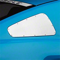 Scott Drake Window Covers w/Rivets - Brushed (10-14 All) - AM Exterior AR3Z-29796/7-R