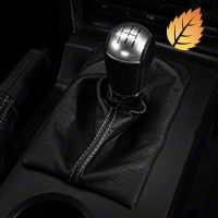 Premium Black Leather Shift Boot - Silver Stitch (05-09 w/Manual)
