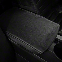 Premium Black Leather Arm Rest Cover - Silver Stitch (05-09 All) - AM Interior 12767