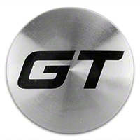 Silver GT Center Cap - Large - AmericanMuscle Wheels CAP-GT-SL