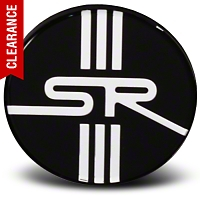 Black SR Center Cap - Large - American Muscle Wheels CAP-SR-BK