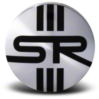 Silver SR Center Cap - Large - AmericanMuscle Wheels CAP-SR-SL