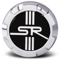 Chrome Raised SR Center Cap - Large - AmericanMuscle Wheels CAP-SR-CR