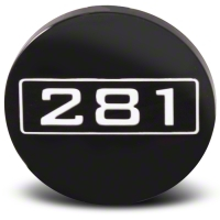 Black 281 Center Cap - Large - AmericanMuscle Wheels CAP-281-BK