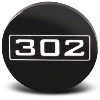Black 302 Center Cap - Large - AmericanMuscle Wheels CAP-302-BK