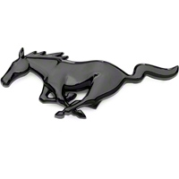 Running Pony Grille Emblem - Black (94-04 All) - AM Exterior EMB-000-053