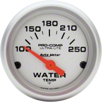 Auto Meter Pro-Comp Ultra-Lite Water Temp Gauge - Electric (79-14 All) - Auto Meter 4337
