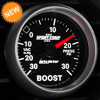 Auto Meter Sport Comp II Boost/Vac Gauge - 30psi Mechanical (79-14 All) - Auto Meter 3603