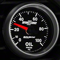 Auto Meter Sport Comp II Oil Pressure Gauge - Mechanical (79-14 All) - Auto Meter 3621