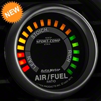 Auto Meter Sport Comp II Air/Fuel Ratio Gauge - Digital (79-14 All) - Auto Meter 3675