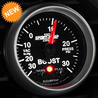 Auto Meter Sport Comp II Boost/Vac Gauge w/ Warning Light - Electric (79-14 All) - Auto Meter 3677