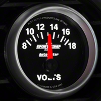 Auto Meter Sport Comp II Voltmeter Gauge - Electric (79-14 All) - Auto Meter 3692