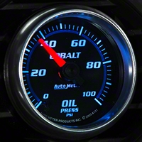Auto Meter Cobalt Oil Pressure Gauge - Mechanical (79-14 All) - Auto Meter 6121
