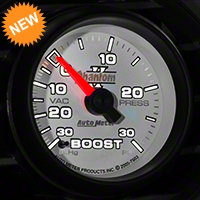 Auto Meter Phantom II Boost/Vac Gauge - 30 psi Mechanical (79-14 All) - Auto Meter 7503