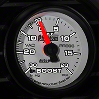 Auto Meter Phantom II Boost/Vac Gauge - 20 psi Mechanical (79-14 All) - Auto Meter 7507