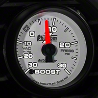 Auto Meter Phantom II Boost/Vac Gauge - 30psi Electric (79-14 All) - Auto Meter 7559