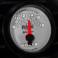 Auto Meter Phantom II Voltmeter Gauge - Electric (79-14 All) - Auto Meter 7592