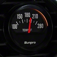 Sunpro Black Styleline Water Temp Gauge - Electric (79-14 All) - Sunpro CP8211