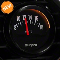 Sunpro Black Styleline Voltmeter Gauge - Electric (79-14 All) - Sunpro CP8215