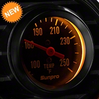 Sunpro Black Styleline Temperature Gauge - Mechanical (79-14 All) - Sunpro CP8217