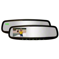 Auto-Dimming Mirror w/ Rear Display Monitor, Homelink and Compass (79-14 All) - AM Exterior 50-GEN3345